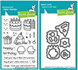 Lawn Fawn Birthday Before 'n Afters Clears Stamps and Coordinating Custom Craft Dies, Bundle of Two Items (LF1958,LF1959)