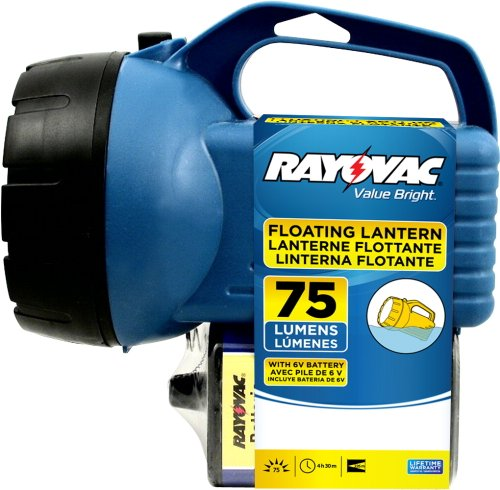 Rayovac Value Bright 75 Lumen Floating Lantern with 6V Batte