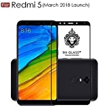 For REDMI 5 - WOW Imagine Pro HD+ 9H Hardness 2.5D 0.3mm Antibacterial Toughened FULL BODY Tempered Glass Screen Protector for XIAOMI MI REDMI 5 (March 2018 Launch) - Black