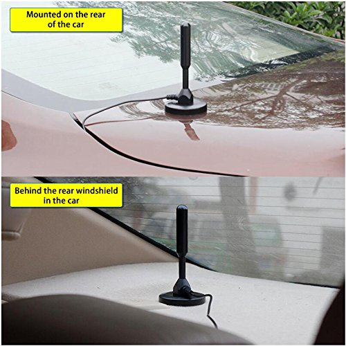 Car Magnet Antenna Universal Magnetic Am Fm Antenna for Radio Car Home 16ft Long 75Ohm with Magnetic Base Antenna
