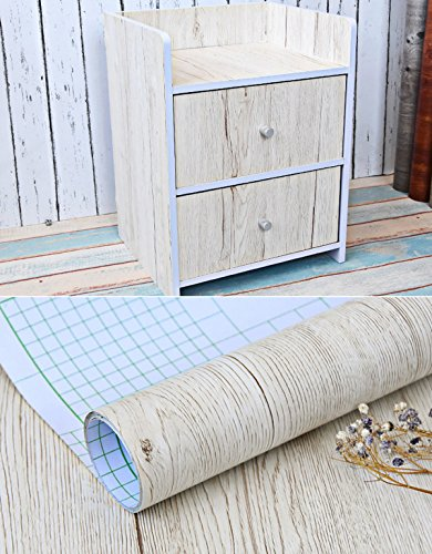 Rustic Maple Wood Grain Contact Paper Self Adhesive Shelf Liner for Kitchen Cabinets Shelves Countertop Dresser Table Desk Furniture 24x117 Inches (Glass Maple Dresser)