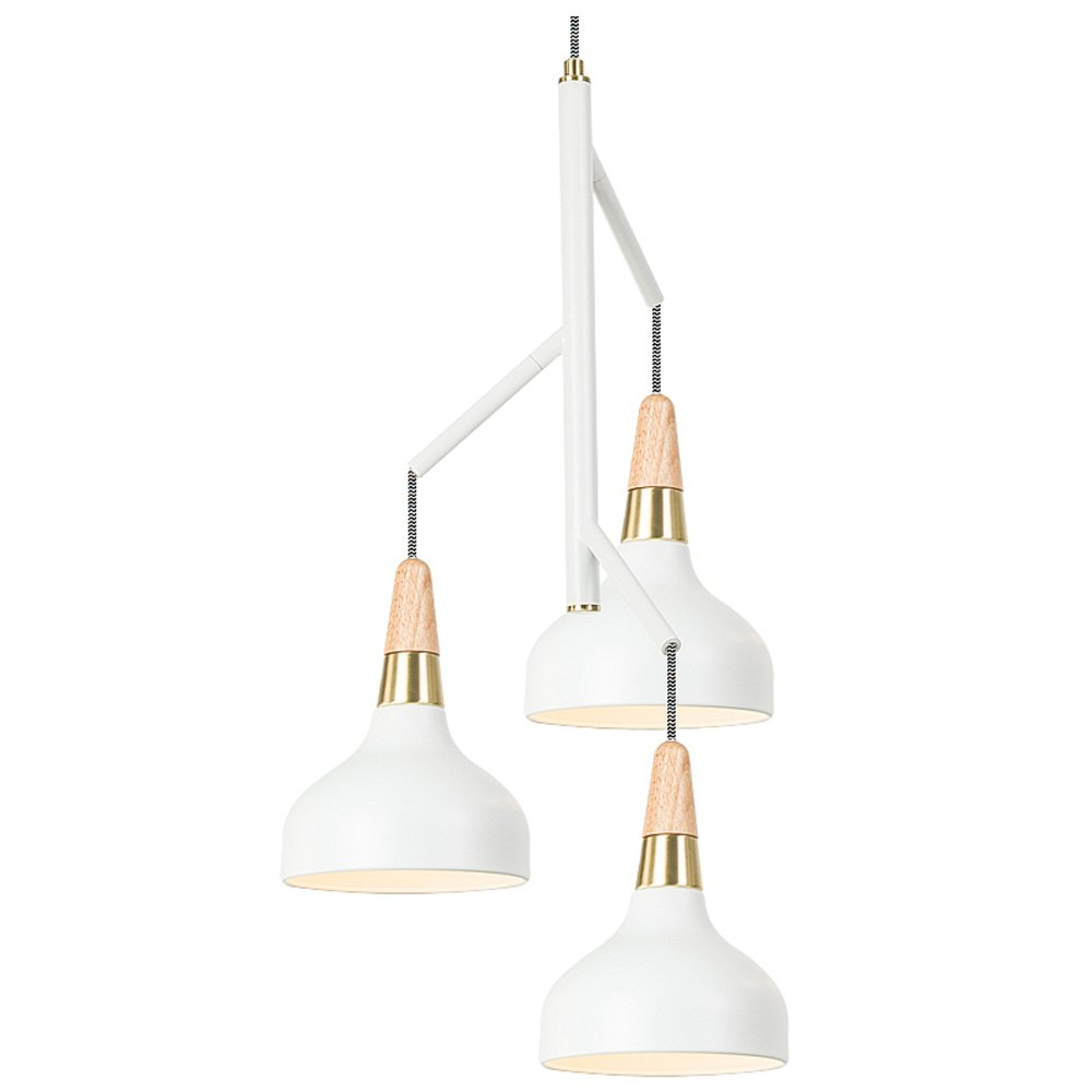 MGCHD Chandelier, Nordic modern Simple Single head restaurant/ living room/ dining table/ bar/ Bar / Lamps, 37 72cm A+ ( Color : White )