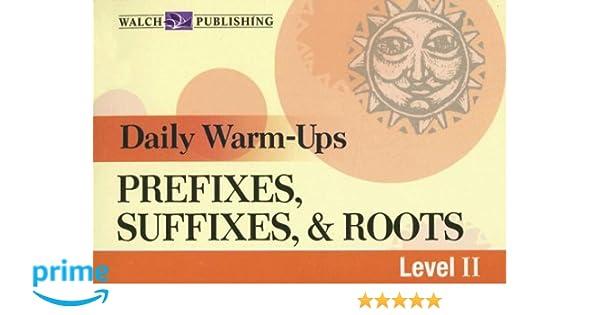 Amazon com: Daily Warm-Ups, Prefixes, Suffixes, & Roots