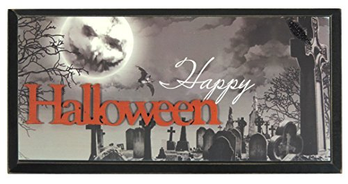 Halloween Decor 12x6 Inches Happy Halloween Wall -