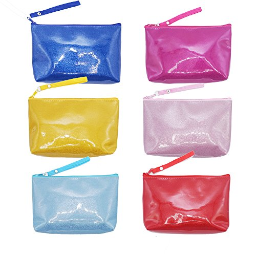 IINDYD Set of 6 Handy Organize Pouch Clutch Makeup Bag Top Zipper For Travel, Cosmetics, Toiletries, Cables, Gadgets (Multi Colour)