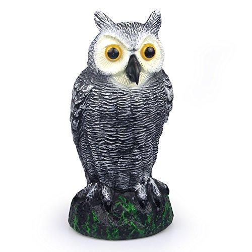[SCHOME Small Scarecrow Fake Owl Decoy - Garden Defense Owl - Bird Pest Deterrent Repellent Scare Mice,Rat,Pigeon] (Scary Scarecrow)