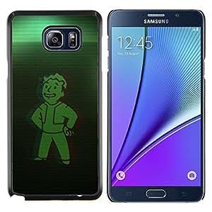 Bóveda Verde Boy- Metal de aluminio y de plástico duro Caja del teléfono - Negro - Samsung Galaxy Note5 / N920