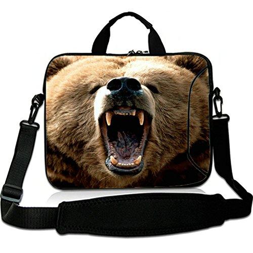 15 Inches Laptop Shoulder Bag Briefcase Bear BigMouth Waterproof Neoprene Laptop Carrying Bag Sleeve for Macbook 15