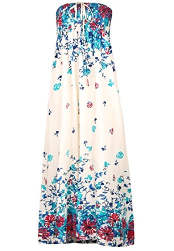 Coolred-femmes Navajo Loisirs Beachwear Floral Wrap Moulantes Occasionnels Poitrine Grandes Robes Swing Beige