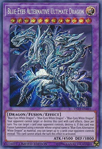 Blue Eyes Alternative Ultimate Dragon Tn19 En001 Prismatic Secret Rare Limited Edition Toys Games