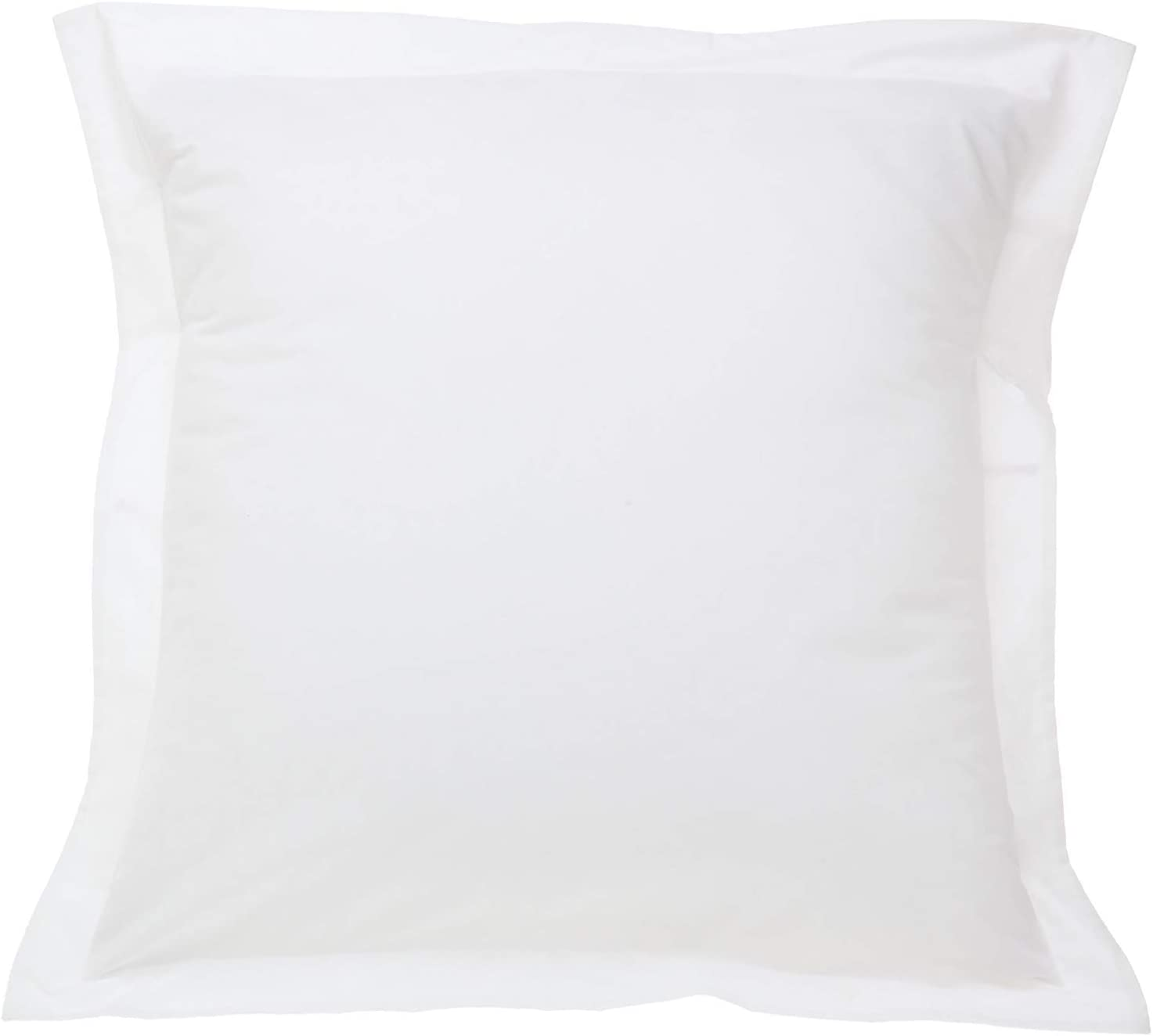 European Square Pillow Shams Set of 2 Pillowcase Euro Shams 26x26 White Pillow Covers 2 Pack, European Pillow Shams White Solid 500 Thread Count 100% Egyptian Cotton