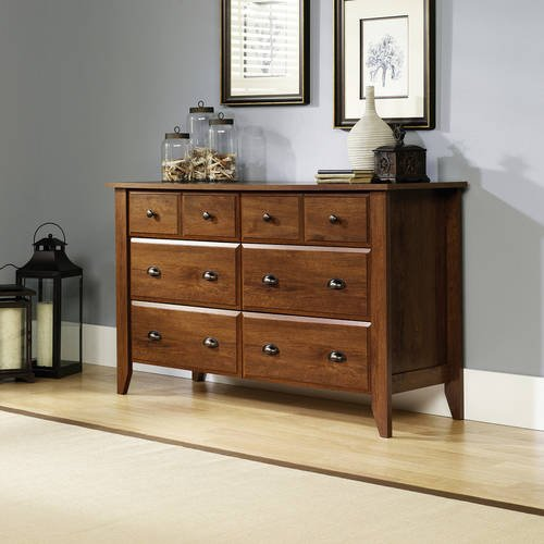 Dresser with Six Drawers, Oiled Oak, Metal Runners, Storage
