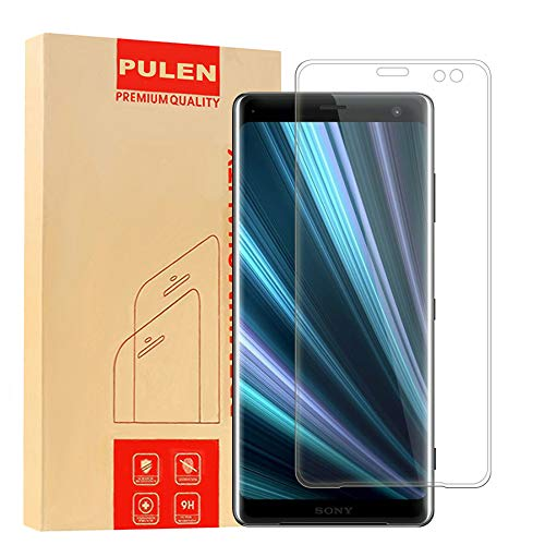PULEN for Sony Xperia XZ3 Screen Protector,0.3MM Slim [3D Full Coverage] [Anti-Fingerprints][Anti-Scratch][Bubble Free] 9H Hardness Tempered Glass Film for Sony Xperia XZ3