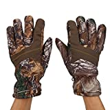 Hunting Gloves Men's Full Finger Windproof Camouflage Anti-Slip Winter Glove Skiing for Outdoor Climbing Hiking Shooting