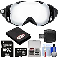 Coleman VisionHD G9HD-SKI 1080p HD Action Video Camera Camcorder Waterproof POV Snow and Ski Goggles with 32GB Card + Reader + Anti-Fog Cloth + Kit