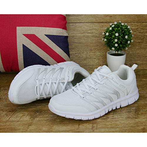 Up Shoes White Breathable Shoes Casual Women Mesh Running Jogging Lace Shoes Gym Breathable Trainers Unisex Sports Sneakers Men Fashion Uawg0wq