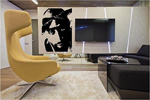 Global Graffix Tupac Shakur Style 3 Wall Decal Sticker Home Decor 23
