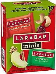 Larabar Minis Gluten Free Bar Variety Pack, Cashew Cookie/Apple Pie, 10 Count, Pack of 8