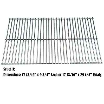 Direct store Parts DS105 Solid Stainless Steel Cooking grids Replacement Ducane:4100, Affinity 4100, Affinity 4200, Affinity 31421001; Master Forge : MFA550CBP, P3018 Gas Grill