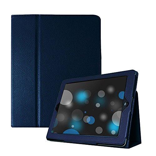 iPad 2/3/4 Case, UrSpeedtekLive Folio Case Cover for iPad 4th,iPad 3/ 2 - Navy (Sleep / Wake Feather)