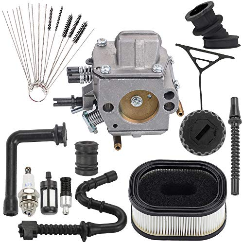 Hayskill Carburetor for Stihl MS 440 460 MS440 MS460 044 046 Chainsaw Parts Replace 1128 120 0625 with Air Filter Fuel Line Spark Plug Repower Kit Zama HD-17A HD-16D Carb