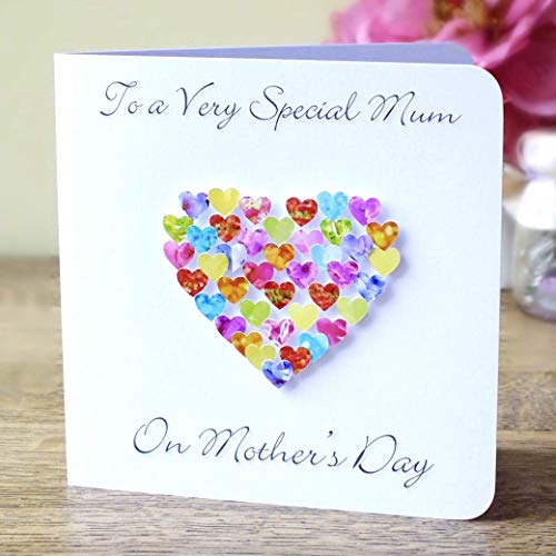 Mothers Day Card  With Flowers Design TO A SPECIAL MOTHER WITH LOVE