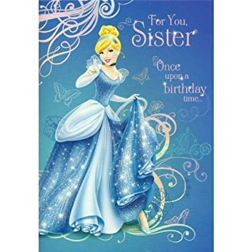 Hallmark sister birthday card disneys cinderella design amazon hallmark sister birthday card disneys cinderella design bookmarktalkfo Gallery