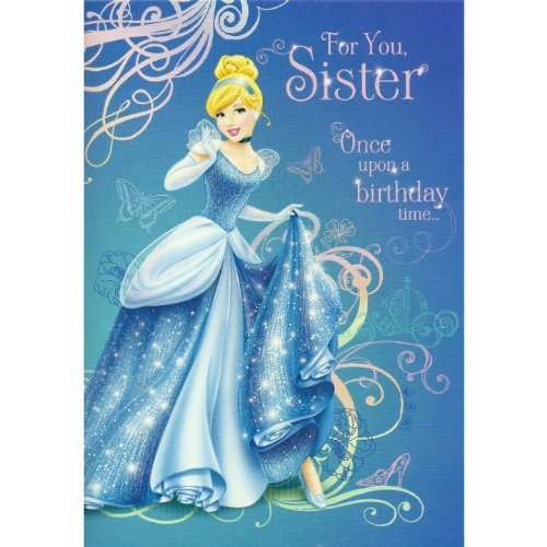 Hallmark Sister Birthday Card Disneys Cinderella Design Amazon – Cinderella Birthday Card