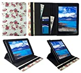 Sweet Tech Insignia Flex 10.1' Tablet PC Floral Rose Garden Universal 360 Degree Rotating PU Leather Wallet Case Cover Folio (9-10 inch)