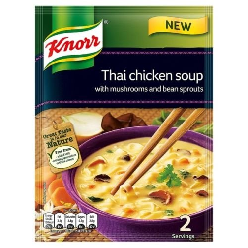 Knorr Thai Chicken Soup with Mushrooms and Bean Sprouts 69g (Knorr Soup Mushroom)