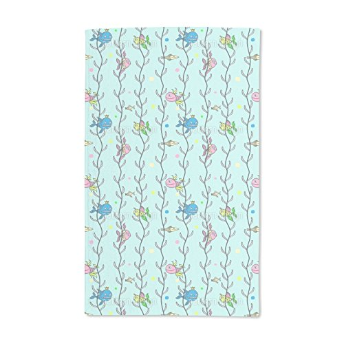 Seagrass Sheets (Extra Soft Microfiber Hand Towel - Underwater Hide And Seek by Ina Bachvarova - 15.5