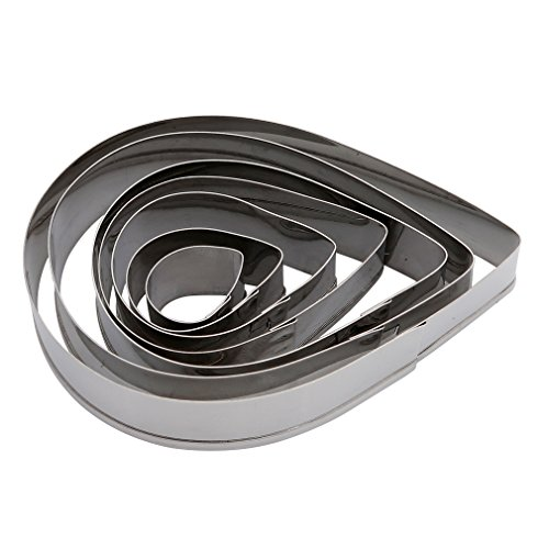 HS 1set Tear Drop Stainless Steel Cookie Cutter Set Cake Cupcake Decorating DIY Biscuit Mold