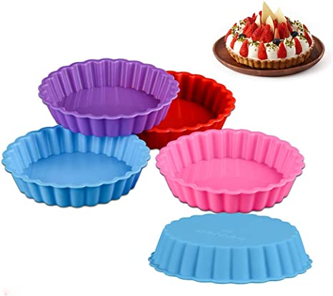 1PC Tart Mold Mini Metal Form Pie Pans Removable Baking Tins Pastry Accessories