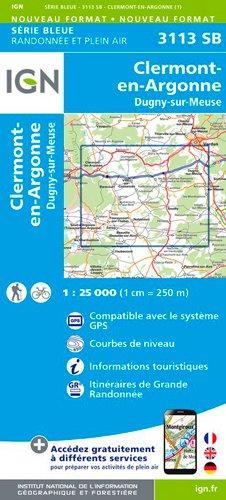 Read Online Clermont-en-Argonne / Dugny-sur-Meuse 2017: IGN3113 PDF
