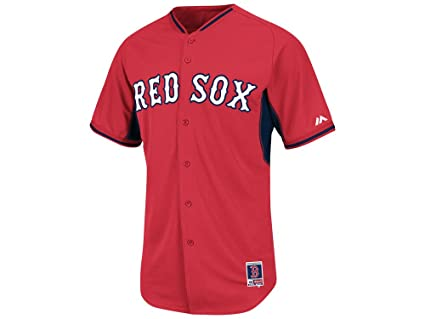 f430c93a5 Image Unavailable. Image not available for. Color  Majestic Men s Boston  Red Sox Cool Base BP Jersey ...