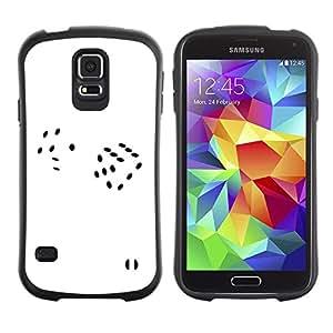 "Hypernova Slim Fit Dual Barniz Protector Caso Case Funda Para Samsung Galaxy S5 [Suerte Minimalista Blanca Casino Gambling""]"