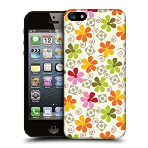 Case Fun Retro Flowers Snap-on Hard Back Case Cover for Apple iPhone 5 / 5S
