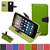 LG Tribute LS660/Transpyre/LG Optimus F60 Case,Mama Mouth [Stand View] Folio Flip Premium PU Leather [Wallet Case] With Built-in Media Stand ID Credit Card / Cash Slots and Inner Pocket Cover For LG Optimus F60/ Transpyre / Tribute LS660, Green