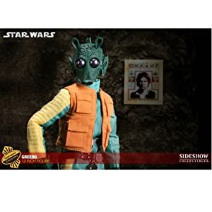 sideshow collectibles star wars greedo 12 inch 30 cm action figure figurine toys. Black Bedroom Furniture Sets. Home Design Ideas