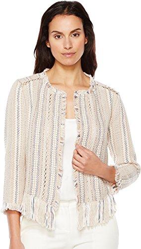 NIC+ZOE Women's Orchid Fringe Jacket Multi Outerwear