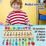 CozyBomB Wooden Number Puzzle Sorting Montessori