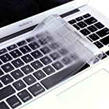 """DHZ® ULTRA Thin Transparent Keyboard Cover Soft TPU Skin for MacBook Pro 13"""" 15"""" 17"""" (with or w/out Retina Display) iMac and MacBook Air 13"""" (Clear TPU)"""