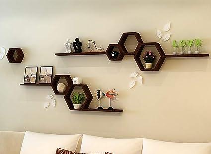amazon com wall shelf wall hanging cabinet tv background wall rh amazon com