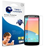 Nexus 5 Screen Protector, Tech Armor High Definition HD-Clear Google Nexus 5 Screen Protector [3-Pack]