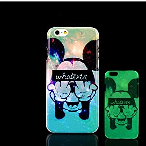 iPhone 7 Case, Glow in the Dark Pet Cat Kitty Pattern TomCase Fluorescent Back Cover for iPhone 7 Case 4.7 inch, P6