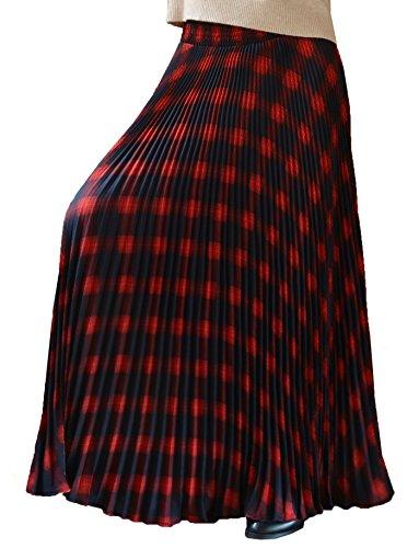 YSJ Womens Plaid Long Maxi Skirt - 37.8