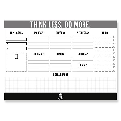 Small Desk Planner - CHIEFS & TRIBES Desk Pad Calendar for writing/Paper: white/Tear-off Sheets/for Dates & Notes/Daily Planner & Weekly Overview/To-Do List 2018