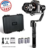 EVO Rage Gen2 Handheld Gimbal for DSLR & Mirrorless Cameras - Works with Sony A7S II, Panasonic GH4 GH5 - 1 Year USA Warranty | Bundle Includes: EVO Rage Gen2 + Extra Set EVO 26500 Batteries