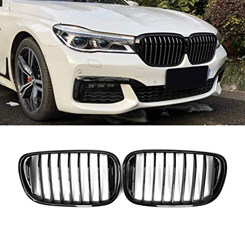 Fandixin G11 Grille, ABS Front Kidney Grill Front Bumper Hood Grill for BMW 7 series G11 G12 Gloss ()