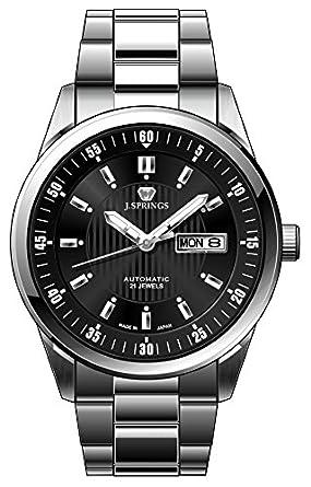 J. Springs Herren-Armbanduhr XL Automatik Serie Analog Automatik Edelstahl BEB581